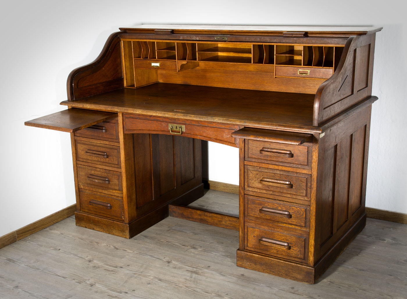 roll top writing desk Solid wood double pedestal roll top desk - 54w $2,9842984 save 13% | free shipping solid oak compact roll top desk - 29w, hau-263bbr compare solid oak compact roll top desk - 29w $1,3691369 save 9% | free shipping compact solid wood roll top writing desk - 29w, hau-268bbr compare.